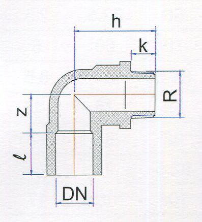 Chi tiết cút ren ngoài PVC